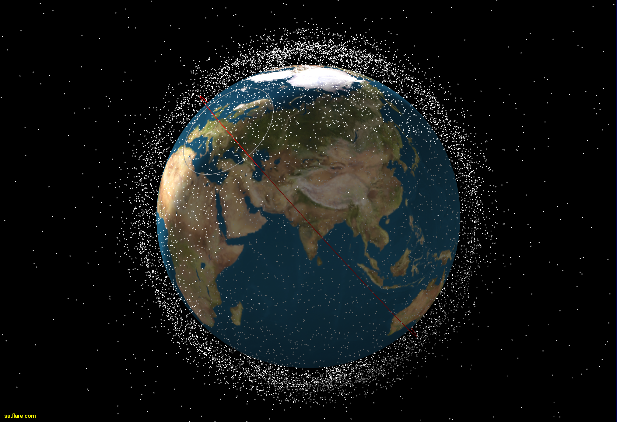 Home Satellite And Flare Tracking - Satellite image