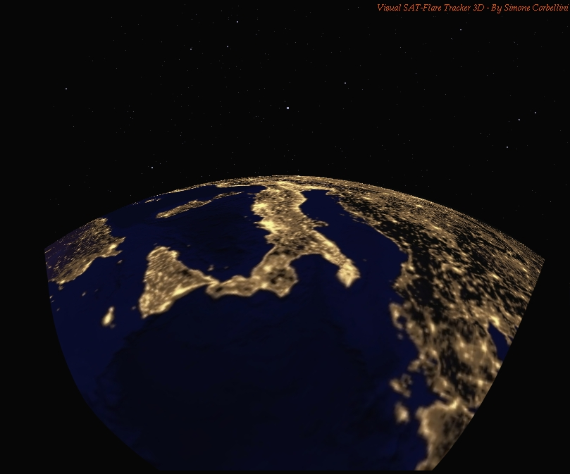 The World from the ISS Simulated