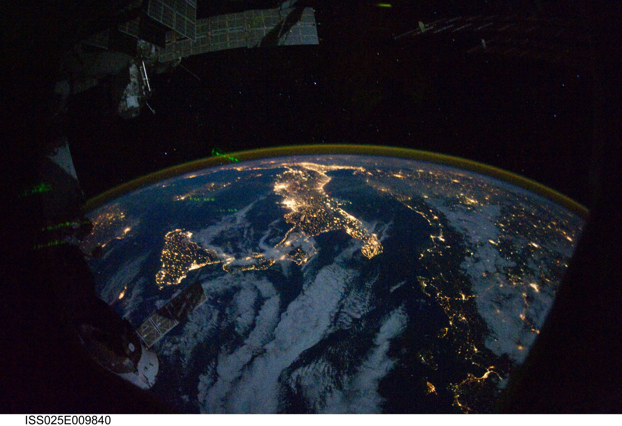 The World from the ISS by Nasa